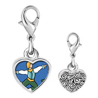 Link Charm Bracelet - 925  sterling silver ten lords leaping photo storybook photo heart frame link charm Image.