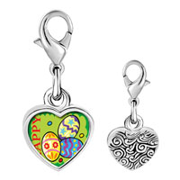 Link Charm Bracelet - 925  sterling silver gold plated cartoon happy photo heart frame link charm Image.