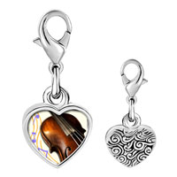 Link Charm Bracelet - 925  sterling silver gold plated music violoncello photo heart frame link charm Image.