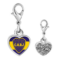 Link Charm Bracelet - 925  sterling silver gold plated sports cabj photo heart frame link charm Image.