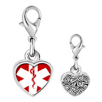 Link Charm Bracelet - 925  sterling silver certified nursing assistant cna caduceus photo heart love frame link charm Image.