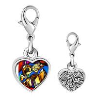 Link Charm Bracelet - 925  sterling silver disorder desktop photo heart frame link charm Image.