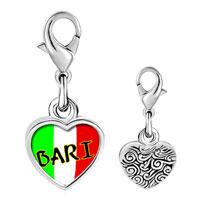 Link Charm Bracelet - 925  sterling silver bari photo heart frame link charm Image.