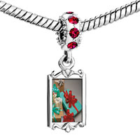 Charms Beads - red crystal dangle holiday gifts Image.