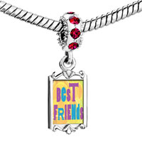 Charms Beads - red crystal dangle best friends colorful Image.