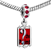 Charms Beads - red crystal dangle whats the point Image.