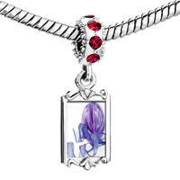 Charms Beads - red crystal dangle purple christmas ornament ribbon Image.