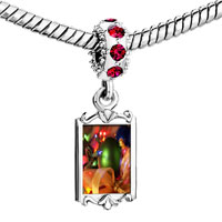 Charms Beads - red crystal dangle christmas tree decorations Image.