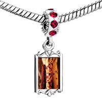 Charms Beads - red crystal dangle thanksgiving indian corn Image.