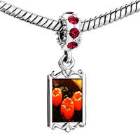 Charms Beads - red crystal dangle jack o lantern halloween pumpkin toys Image.