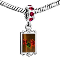 Charms Beads - red crystal dangle ho christmas lights Image.