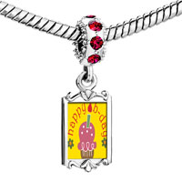Charms Beads - red crystal dangle happy b day pink cake Image.