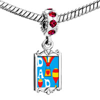 Charms Beads - red crystal dangle dad balloons Image.