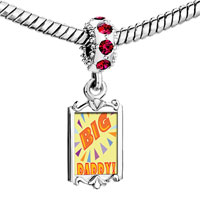 Charms Beads - red crystal dangle big daddy Image.