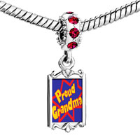 Charms Beads - red crystal dangle proud grma Image.