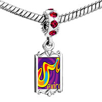 Charms Beads - red crystal dangle multicolored mexico Image.