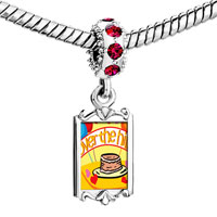 Charms Beads - red crystal dangle over the hill birthday Image.
