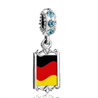 Aquamarine Crystal Dangle Germany Flag