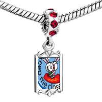 Charms Beads - red crystal dangle keep me close Image.