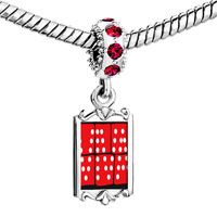 Charms Beads - red crystal dangle viva Image.