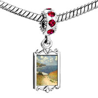 Charms Beads - red crystal dangle path in the wheat Image.