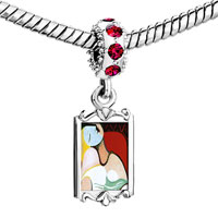 Charms Beads - red crystal dangle the dream painting Image.