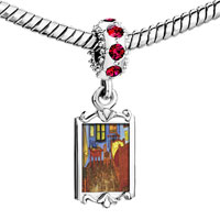 Charms Beads - red crystal dangle the bedroom arles painting Image.