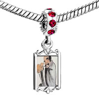 Charms Beads - red crystal dangle self joyfulness painting Image.