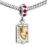 Charms Beads - red crystal dangle steeling the wine vat painting Image.