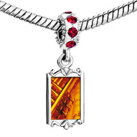 Charms Beads - red crystal dangle gold music jazz playing Image.
