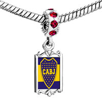 Charms Beads - red crystal dangle gold sports cabj Image.