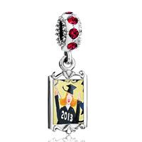 Charms Beads - red crystal dangle graduate  2013 Image.