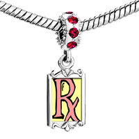 Charms Beads - red crystal dangle px Image.