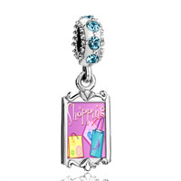 Aquamarine Crystal Dangle Multicolor Shopping Bag