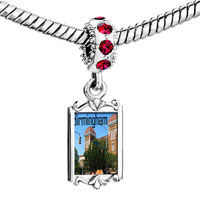 Charms Beads - red crystal dangle birmingham scene Image.