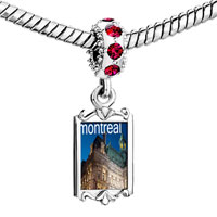 Charms Beads - red crystal dangle montreal Image.