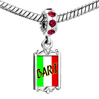 Charms Beads - red crystal dangle bari Image.