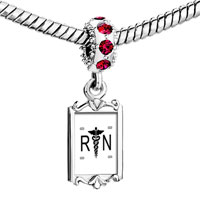 Red Crystal Dangle White Wings Logo