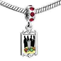 Charms Beads - red crystal dangle black evil dracula Image.