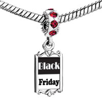 Charms Beads - red crystal dangle black friday Image.