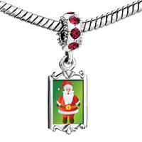 Charms Beads - red crystal dangle kind christmas santa Image.