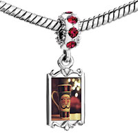 Charms Beads - red crystal dangle cute cfee cup Image.