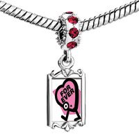 Charms Beads - red crystal dangle cute pink forever Image.