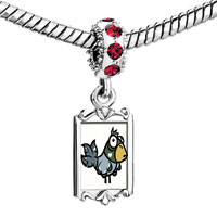 Charms Beads - red crystal dangle cute animal Image.