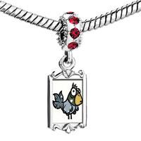Charms Beads - red crystal dangle cute animal Image.