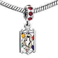 Charms Beads - red crystal dangle whole family three generations Image.