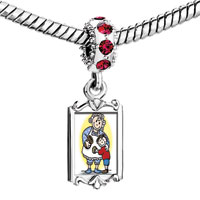 Charms Beads - red crystal dangle grma grson love Image.