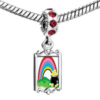 Charms Beads - red crystal dangle st.  patrick' s day rainbow jar Image.