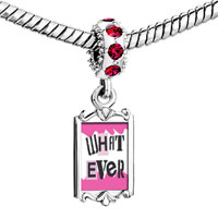 Charms Beads - red crystal dangle what ever Image.