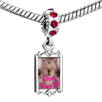 Charms Beads - red crystal dangle cute cat deming give me  5 Image.
